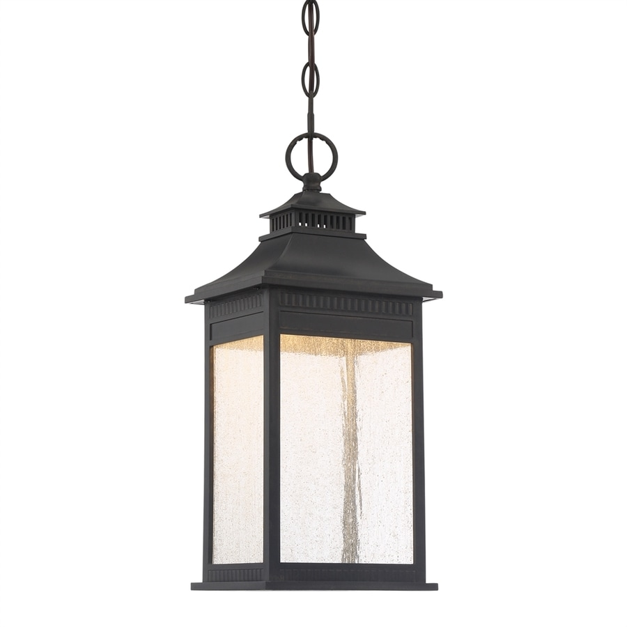 Quoizel Livingston 18.25-in Imperial Bronze Outdoor Pendant Light