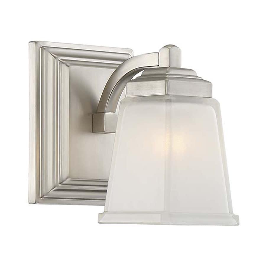 Vanity Light No Stud : Shop Quoizel 1-Light 7.25-in Brushed Nickel Bell Vanity Light at Lowes.com