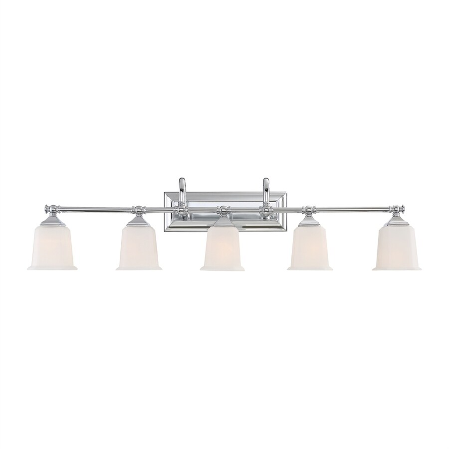 Quoizel Nicholas 5-Light 10.75-in Polished Chrome Bell Vanity Light