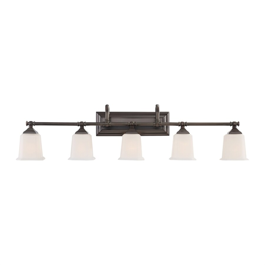 Quoizel Nicholas 5-Light 10.75-in Harbor Bronze Bell Vanity Light