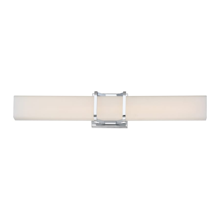 Quoizel Platinum Axis 1-Light 3-in Polished Chrome Rectangle LED Vanity Light Bar