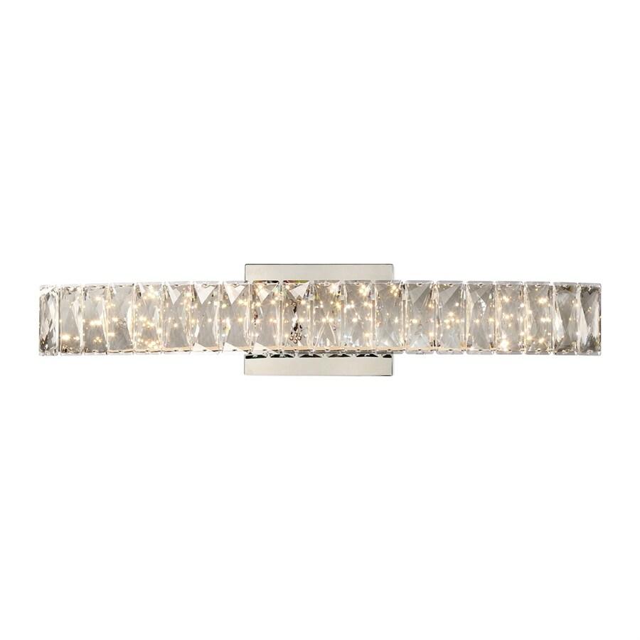 Quoizel Platinum Gala 1-Light 4.75-in Polished chrome Rectangle LED Vanity Light Bar