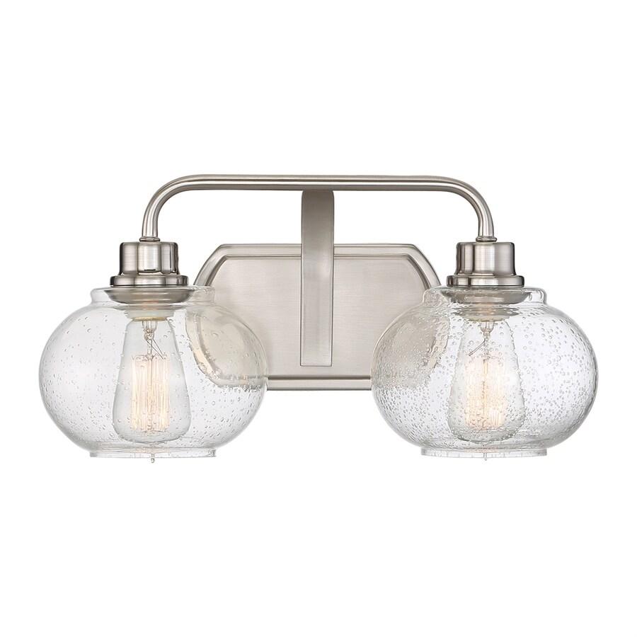 Quoizel Trilogy 2-Light 8.25-in Brushed nickel Orb Vanity Light