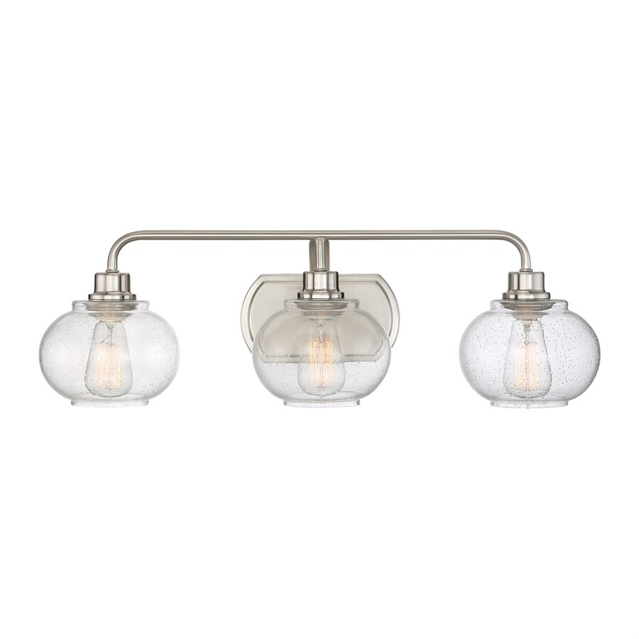 Beautiful Quoizel Trilogy 3 Light 26 In Brushed Nickel Orb Vanity Light