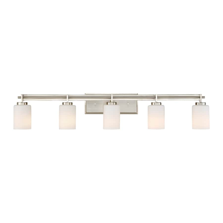 Discount Lighting Store: Quoizel Taylor 5-Light 40-in Brushed Nickel Cylinder