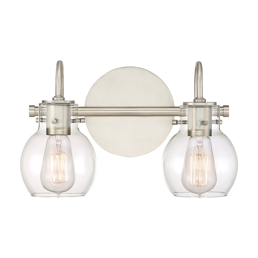 Teardrop Glass Vanity Light : Shop Quoizel Andrews 2-Light 9-in Antique Nickel Teardrop Vanity Light at Lowes.com