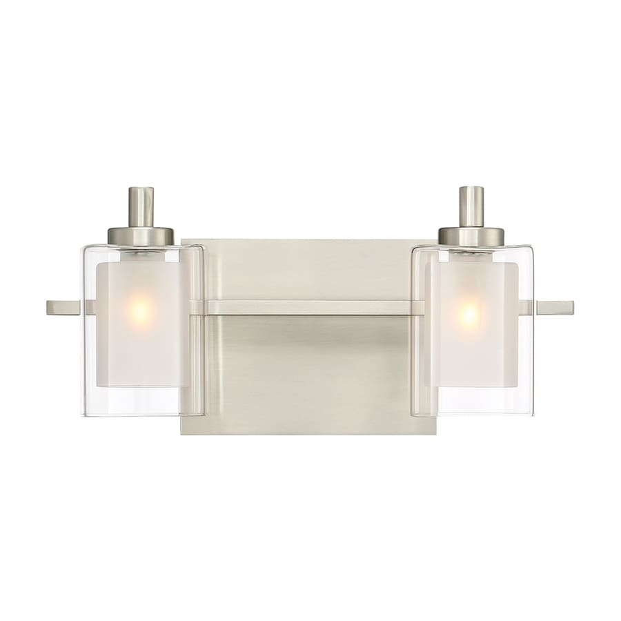 Quoizel Vanity Lights : Shop Quoizel Kolt 2-Light 6-in Brushed Nickel Cylinder Vanity Light at Lowes.com