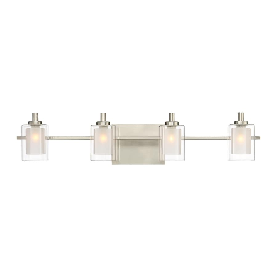 Vanity Lights In Brushed Nickel : Shop Quoizel Kolt 4-Light 6-in Brushed nickel Cylinder Vanity Light at Lowes.com