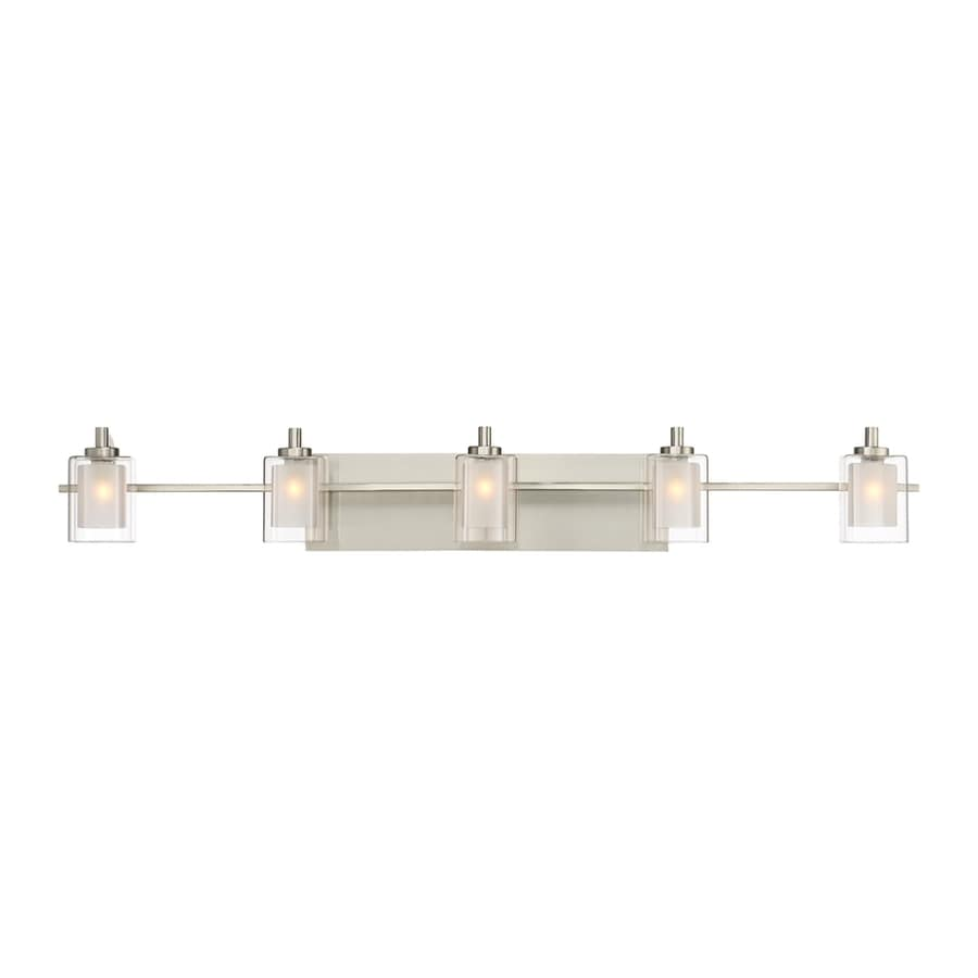 Shop Quoizel Kolt 5-Light 6-in Brushed Nickel Cylinder Vanity Light at Lowes.com