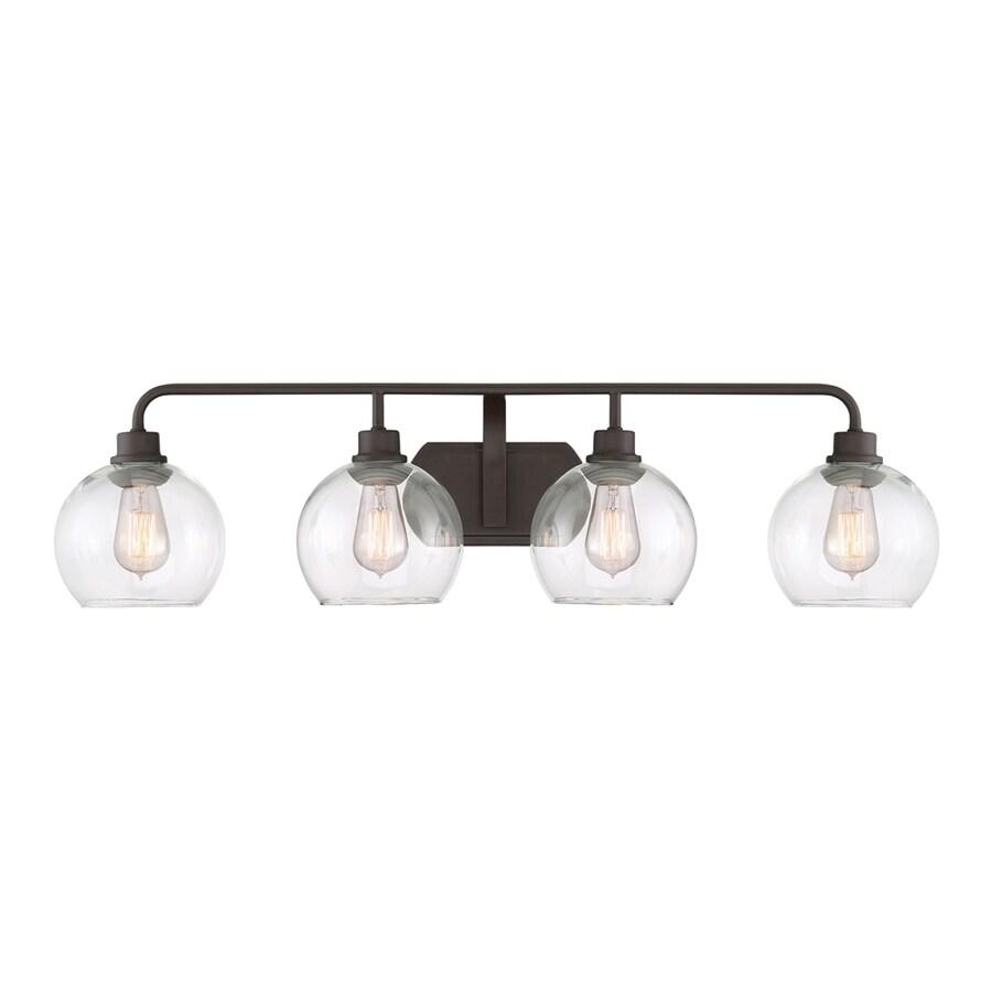 Shop Ashley Harbour 4-Light 9.5-in Old bronze Orb Vanity Light at ...