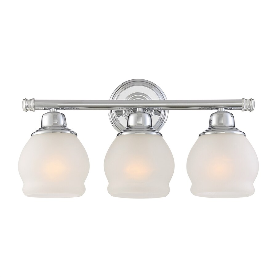 Shop Quoizel 3 Light 9 In Polished Chrome Acorn Vanity Light At