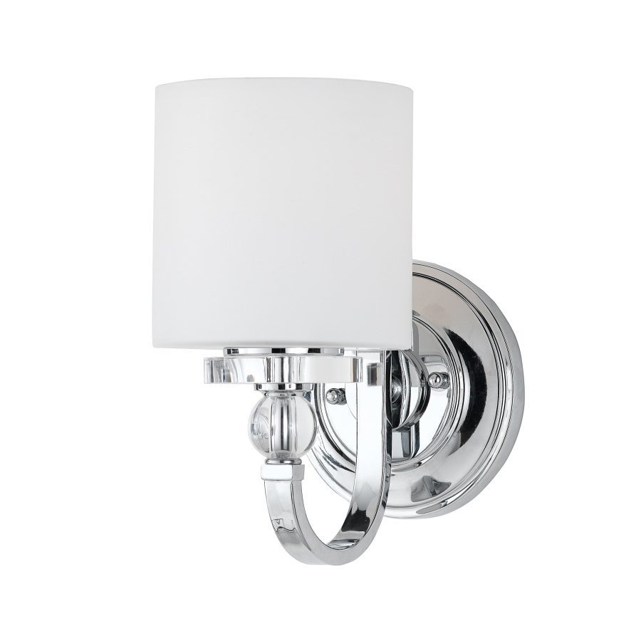 Shop quoizel downtown 6 in w 1 light chrome arm wall sconce at quoizel downtown 6 in w 1 light chrome arm wall sconce amipublicfo Image collections