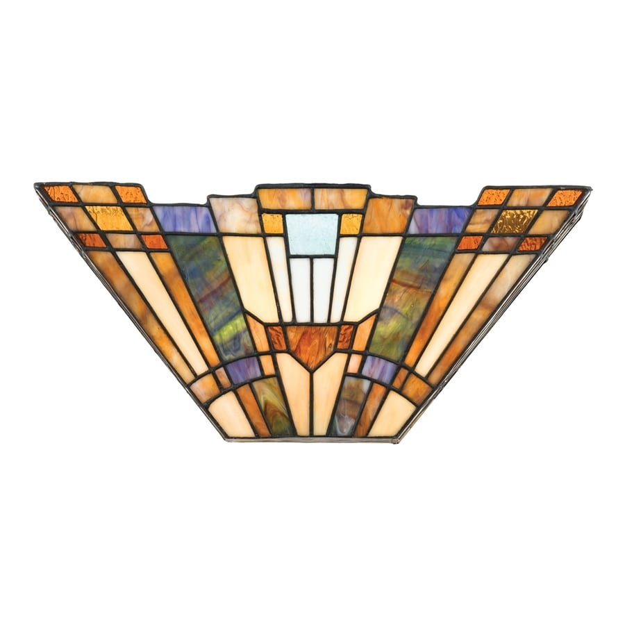 Shop Quoizel Inglenook 16-in W 1-Light Tiffany-Style Pocket Wall Sconce at Lowes.com