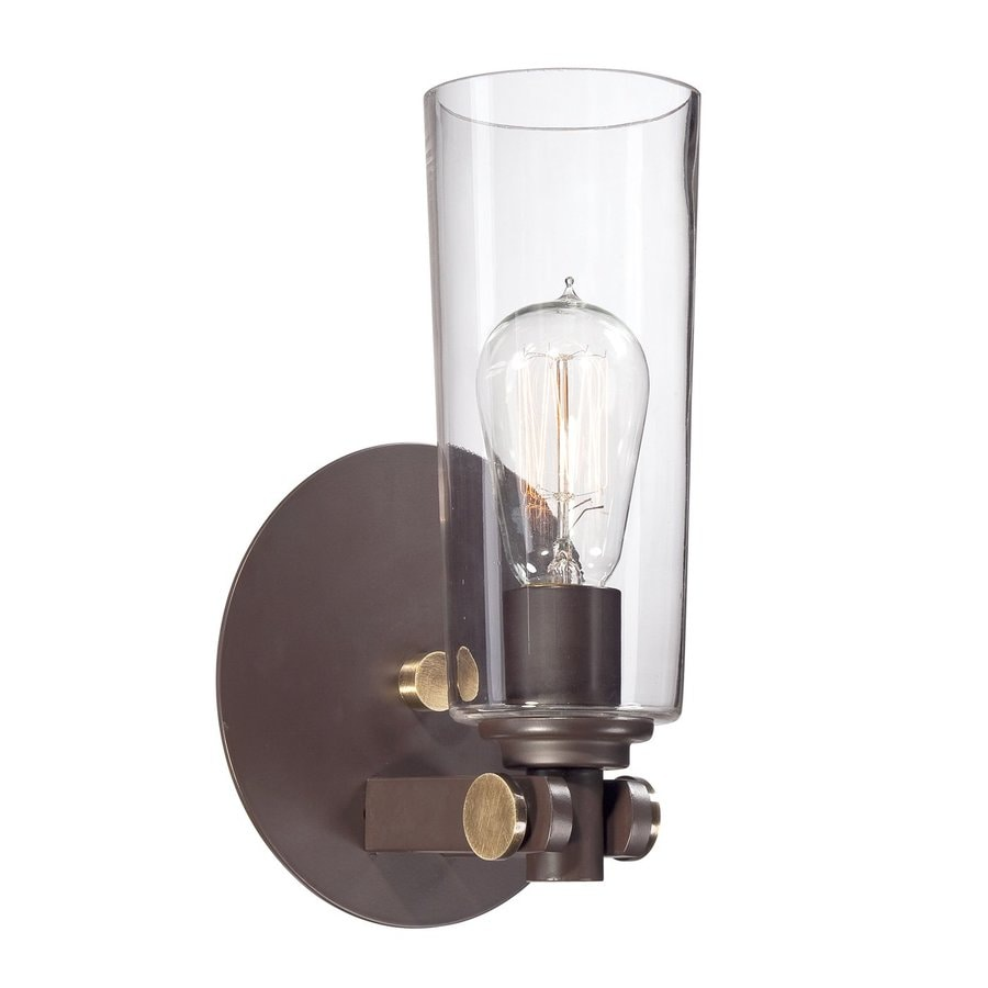 Quoizel Uptown East Village 6.5-in W 1-Light Bronze Arm Wall Sconce