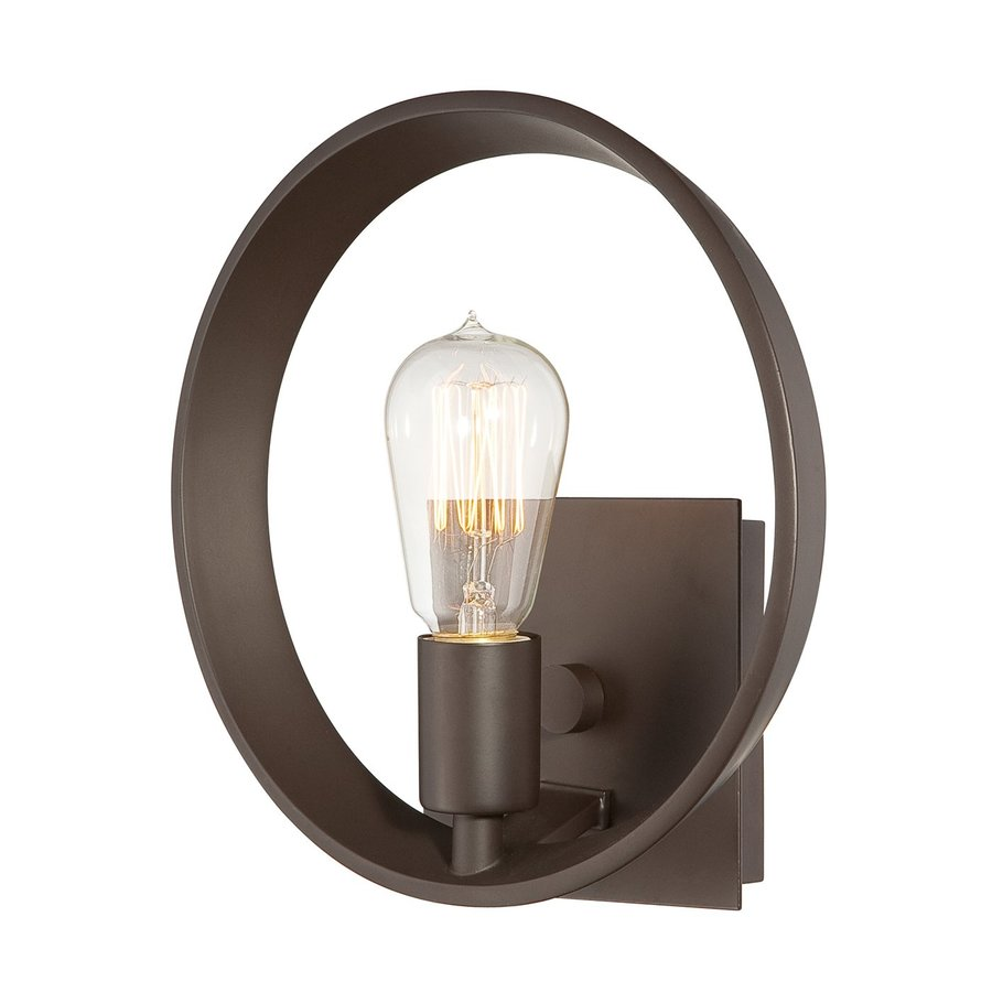 Quoizel Uptown Theatre Row 10-in W 1-Light Bronze Arm Wall Sconce