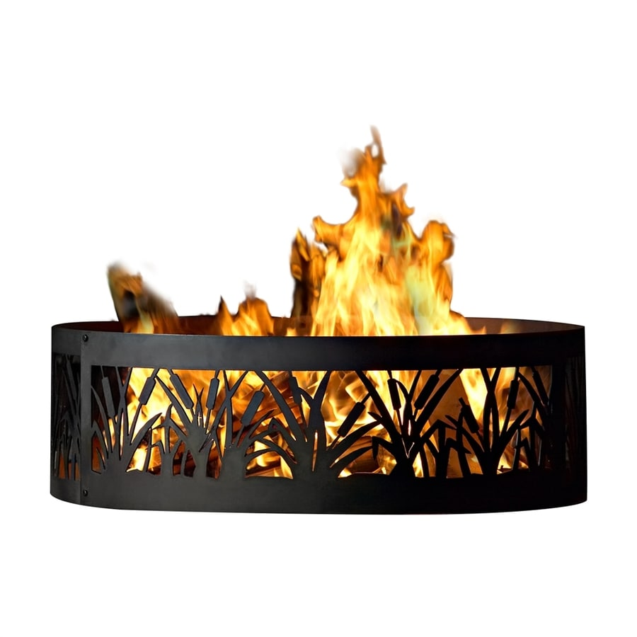Shop P D Metal Works 48 In W Mild Steel Steel Wood Burning Fire Pit At