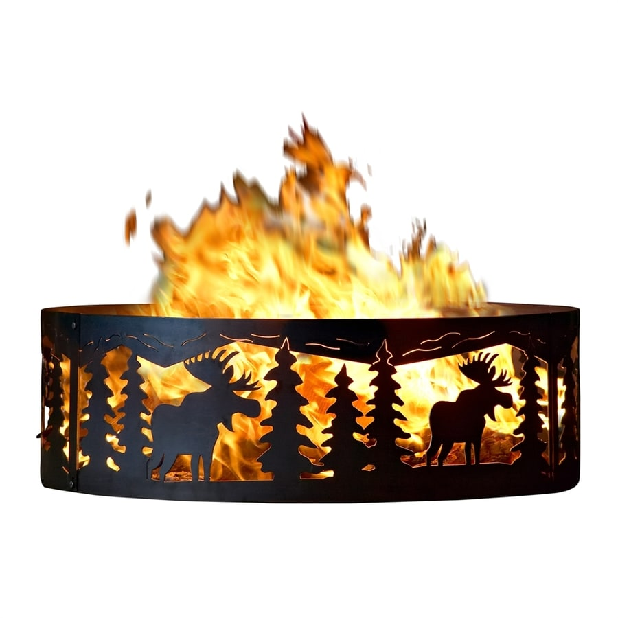 P&D Metal Works 38-in W Mild Steel Wood-Burning Fire Pit