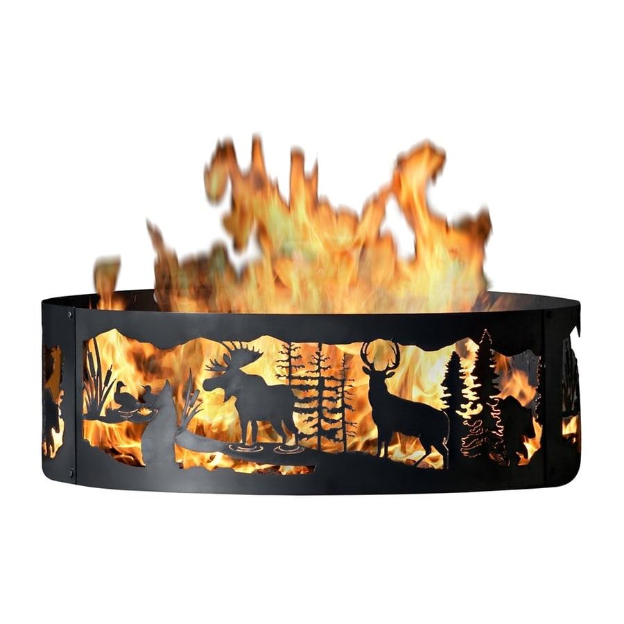 P&D Metal Works 48-in W Mild Steel Wood-Burning Fire Pit