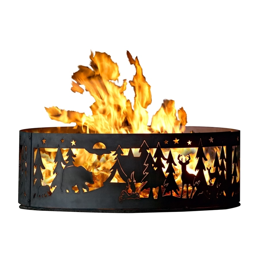 P&D Metal Works 38-in W Mild Steel Wood-Burning Fire Pit