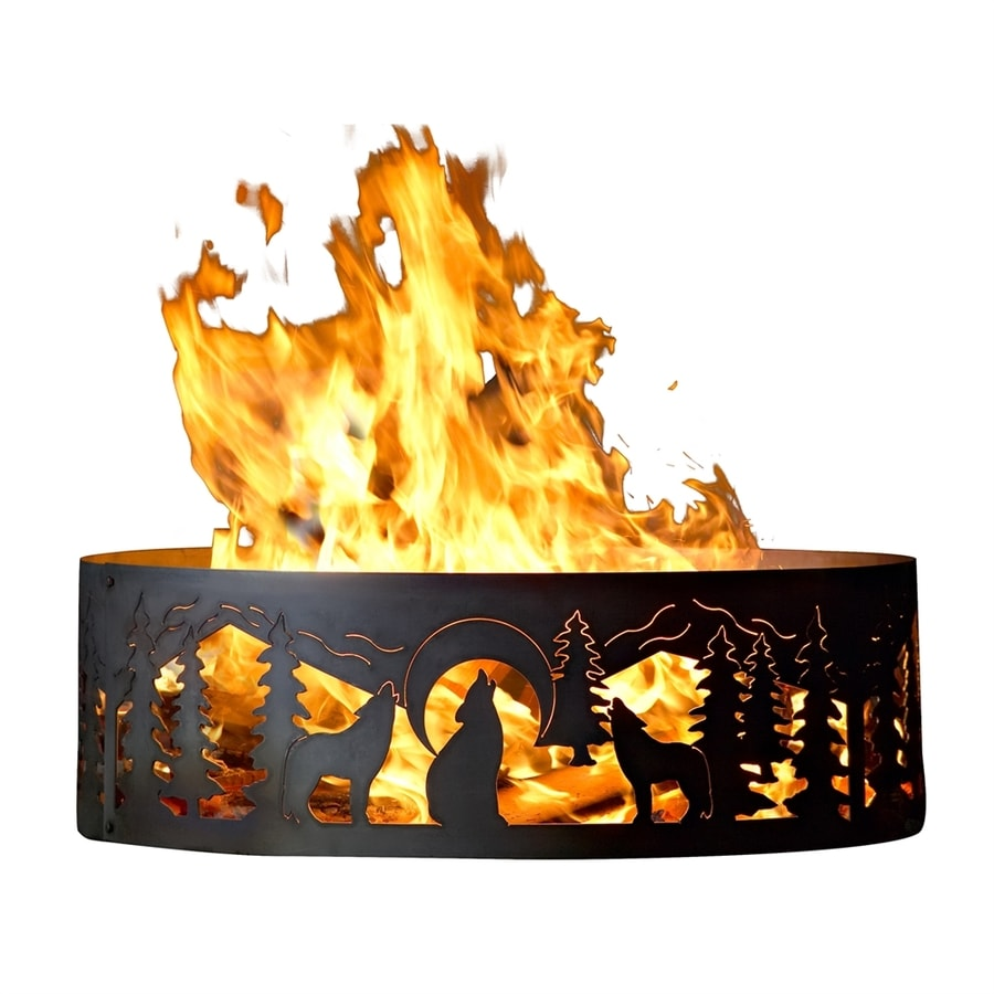 P&D Metal Works 30-in W Mild Steel Wood-Burning Fire Pit