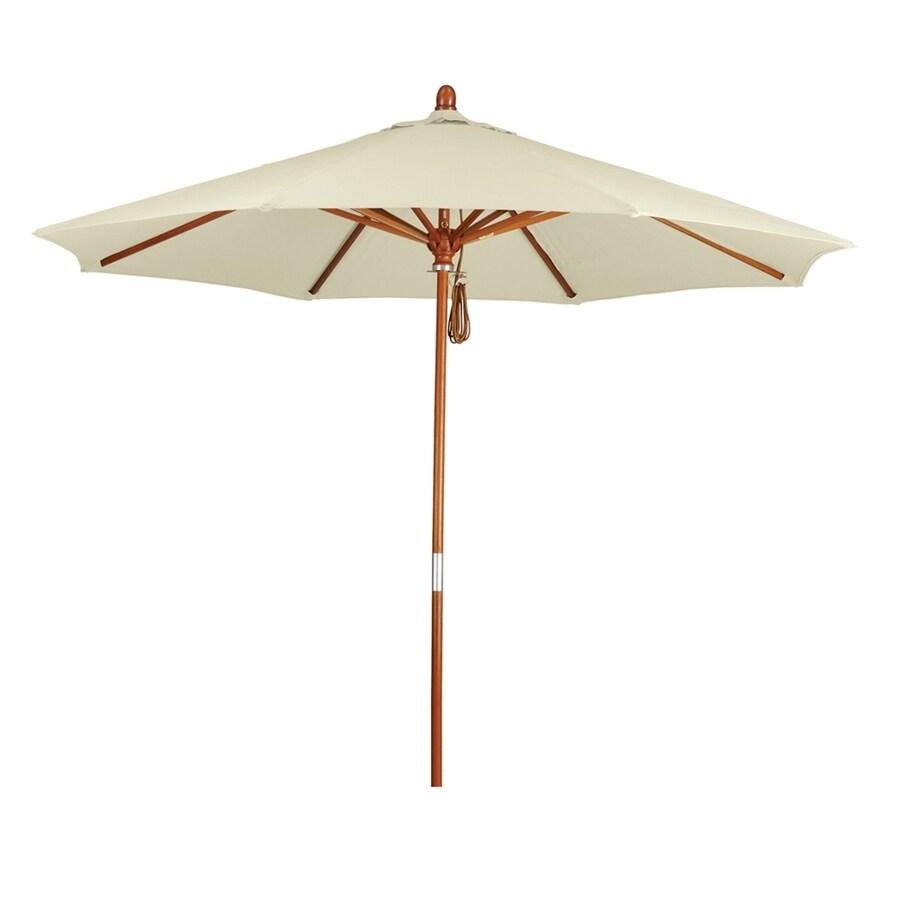 California Umbrella Grove Natural Market Patio Umbrella (Common: 9-ft W x 9-ft L; Actual: 9-ft W x 9-ft L)