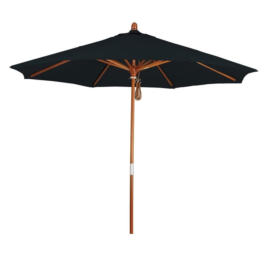 California Umbrella Grove Black Market Patio Umbrella (Common: 9-ft W x 9-ft L; Actual: 9-ft W x 9-ft L)