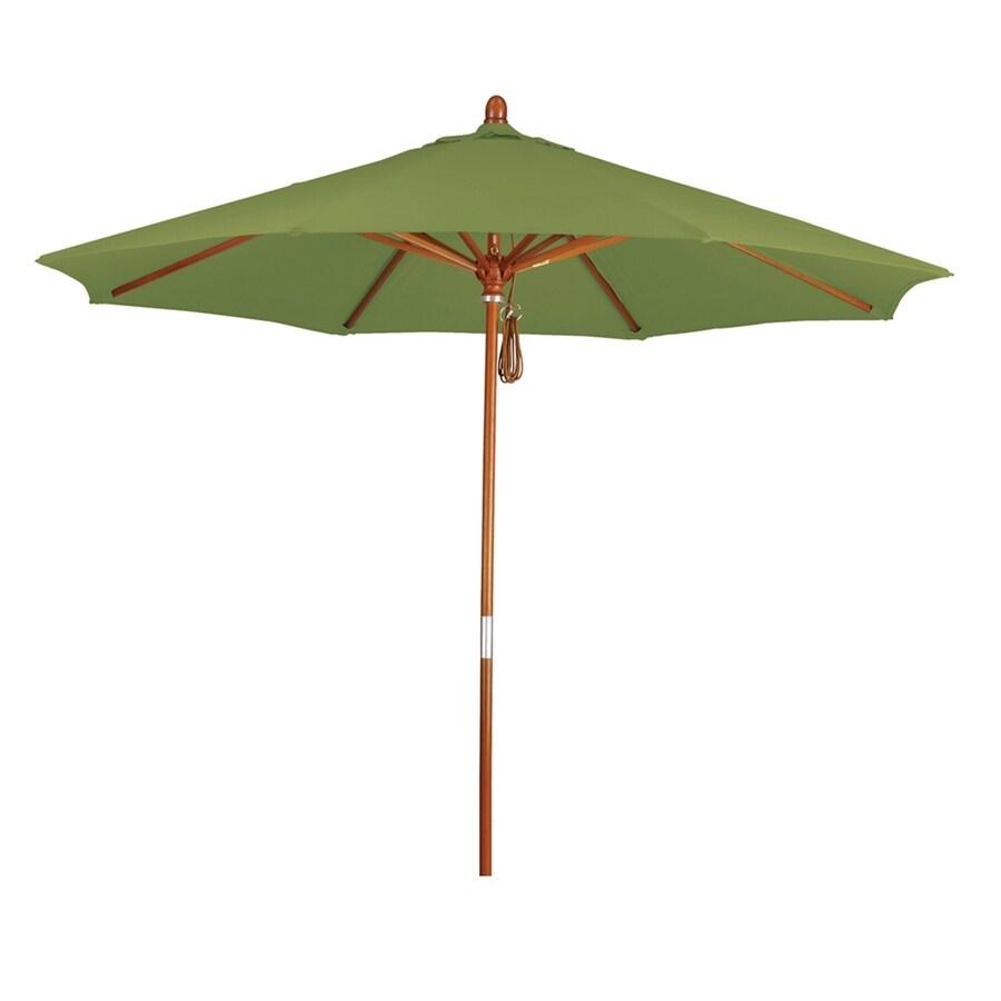 California Umbrella Grove Ginkgo Market Patio Umbrella (Common: 9-ft W x 9-ft L; Actual: 9-ft W x 9-ft L)