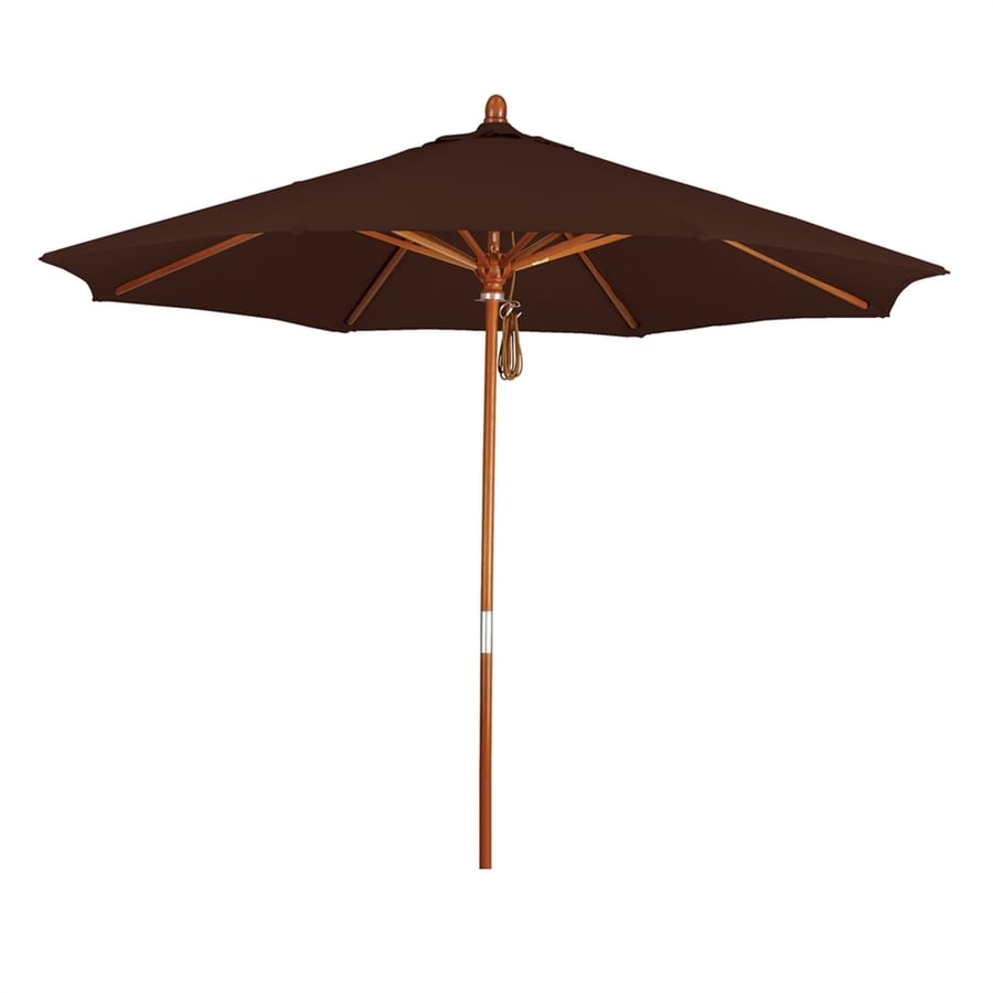 California Umbrella Grove Mocha Market Patio Umbrella (Common: 9-ft W x 9-ft L; Actual: 9-ft W x 9-ft L)