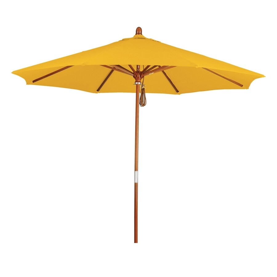 California Umbrella Grove Yellow Market Patio Umbrella (Common: 9-ft W x 9-ft L; Actual: 9-ft W x 9-ft L)
