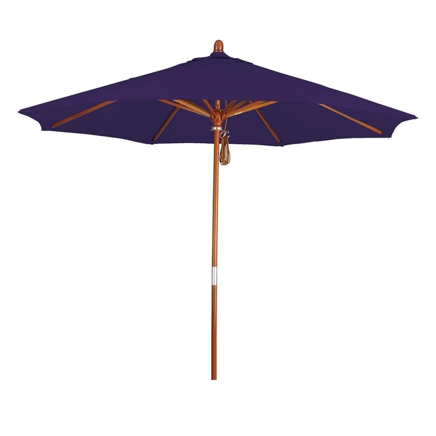 California Umbrella Grove Purple Market Patio Umbrella (Common: 9-ft W x 9-ft L; Actual: 9-ft W x 9-ft L)