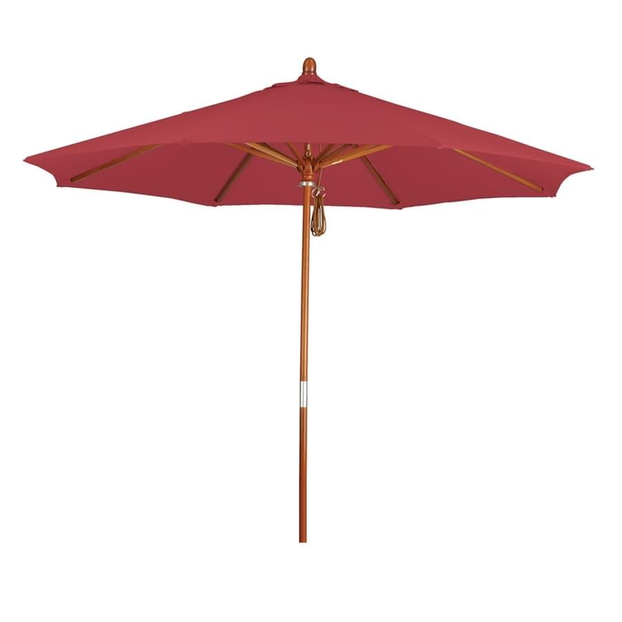 California Umbrella Grove Red Market Patio Umbrella (Common: 9-ft W x 9-ft L; Actual: 9-ft W x 9-ft L)