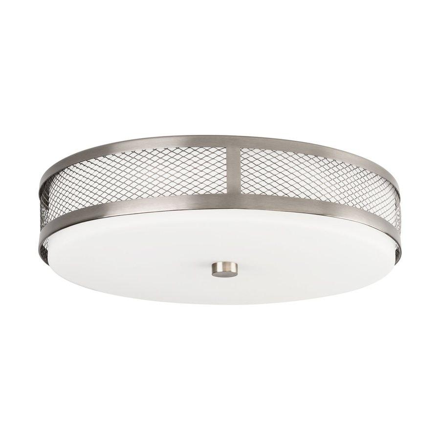 Kichler 13.25-in W Brushed Nickel LED Flush Mount Light