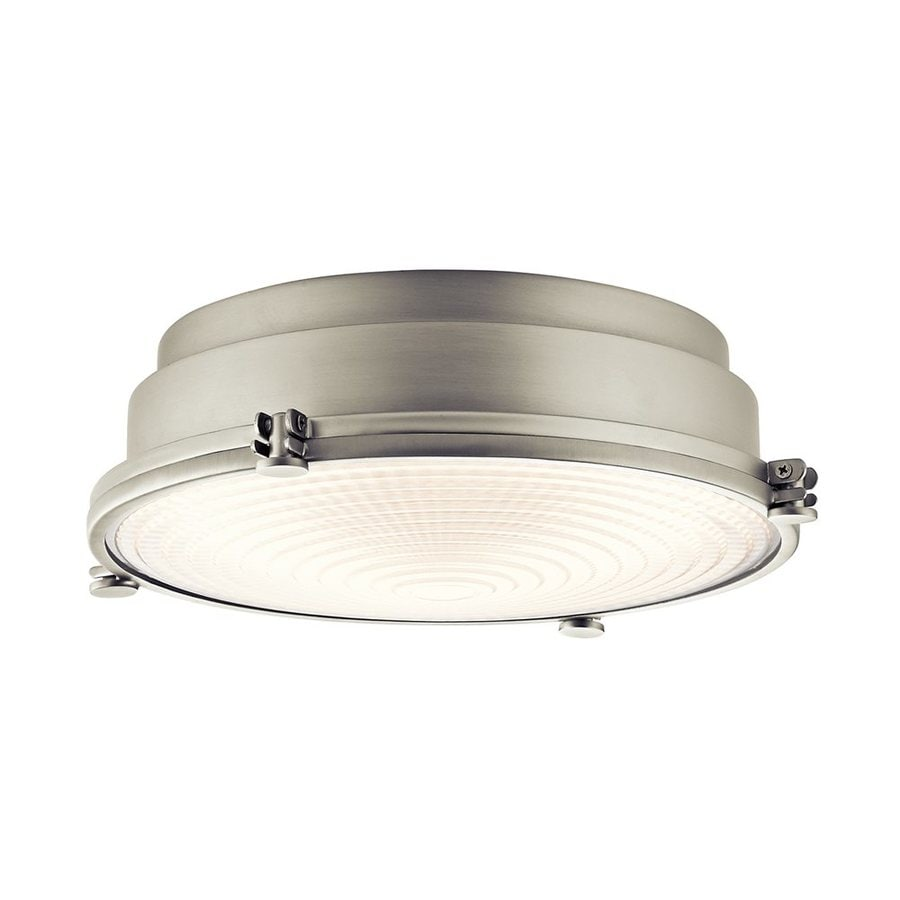 Kichler Hatteras Bay 13.25-in W Brushed Nickel LED Flush Mount Light