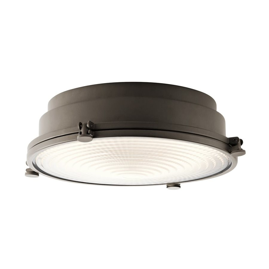 Kichler Hatteras Bay 18-in W Olde bronze LED Flush Mount Light