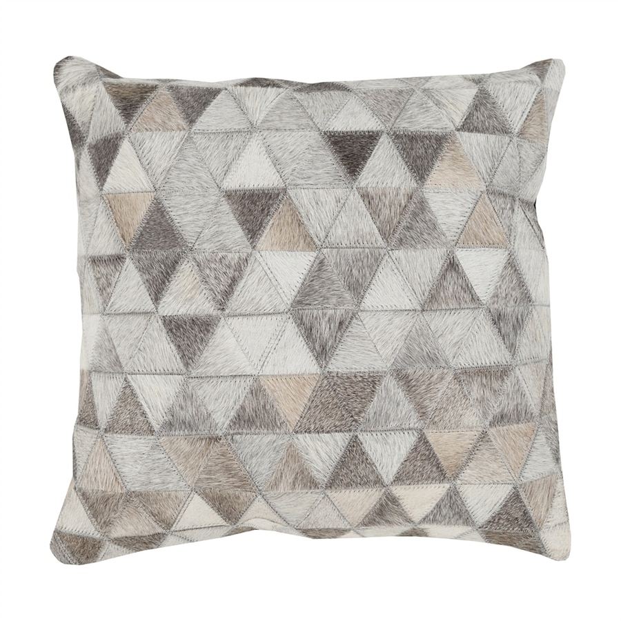 Surya Trail 20-in W x 20-in L Neutral Gray Indoor Decorative Pillow
