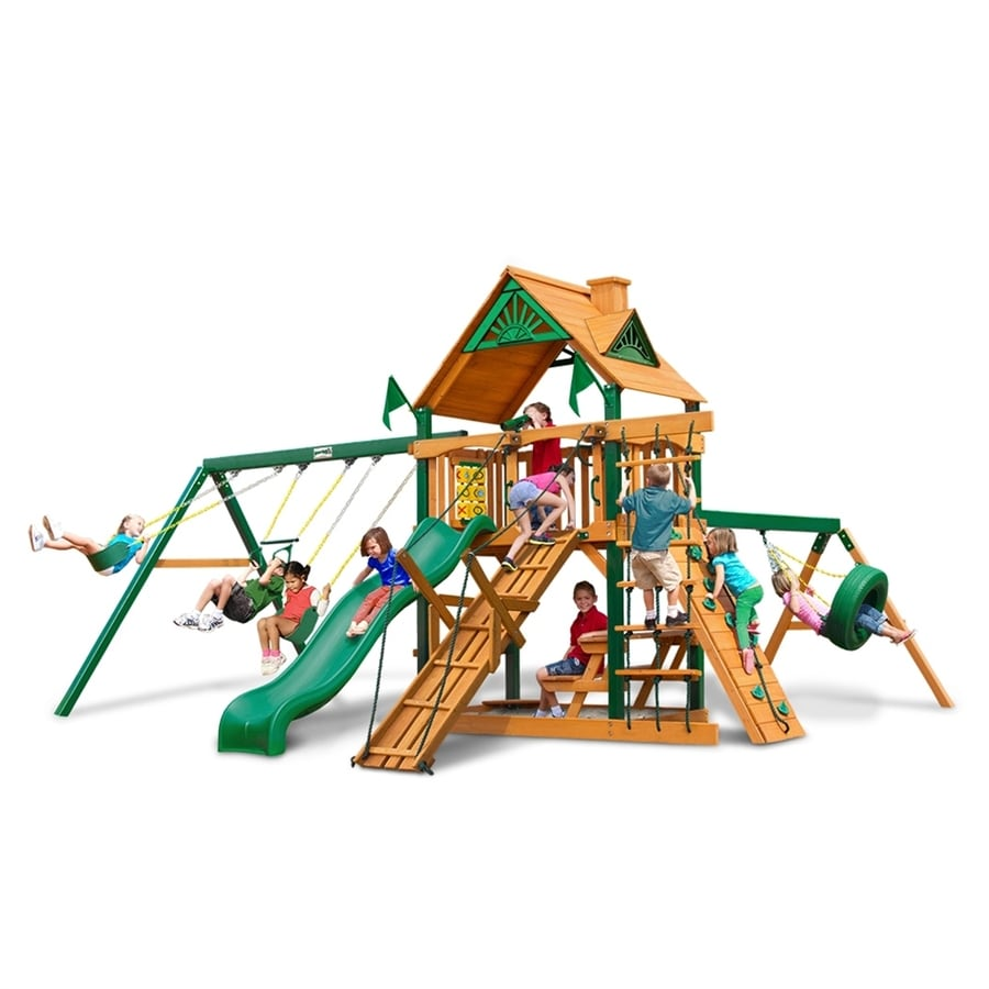 Gorilla Playsets Frontier Wood Playset with Swings