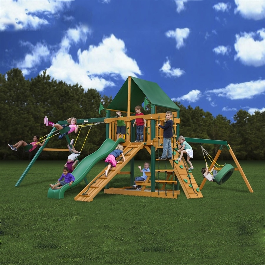 Shop Gorilla Playsets Frontier Wood Playset With Swings At