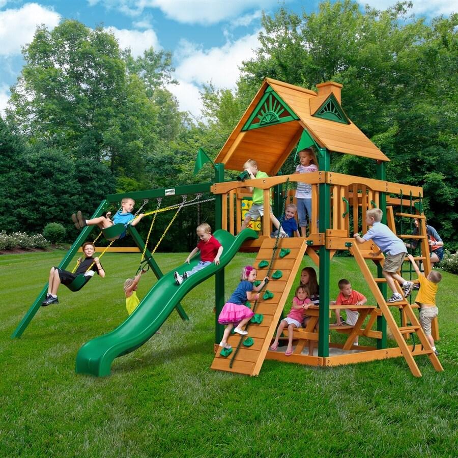 Gorilla Playsets Navigator Wood Playset with Swings