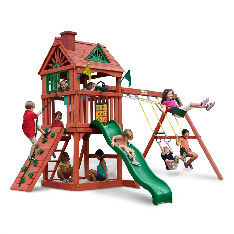 Gorilla Playsets Nantucket Wood Playset with Swings