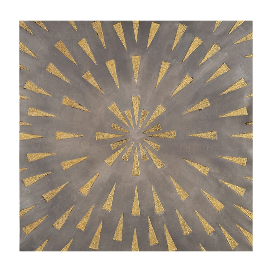 Shop third wall 36 in w x 36 in h frameless starburst for Kitchen cabinets lowes with wall print art
