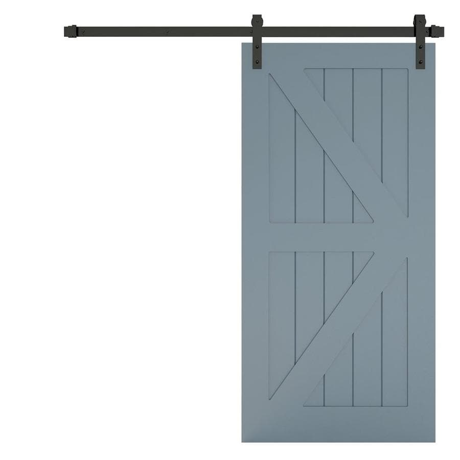 Urban Woodcraft Manhattan Gray MDF Pine Barn Interior Door with Hardware (Common: 40-in x 83-in; Actual: 40-in x 83-in)