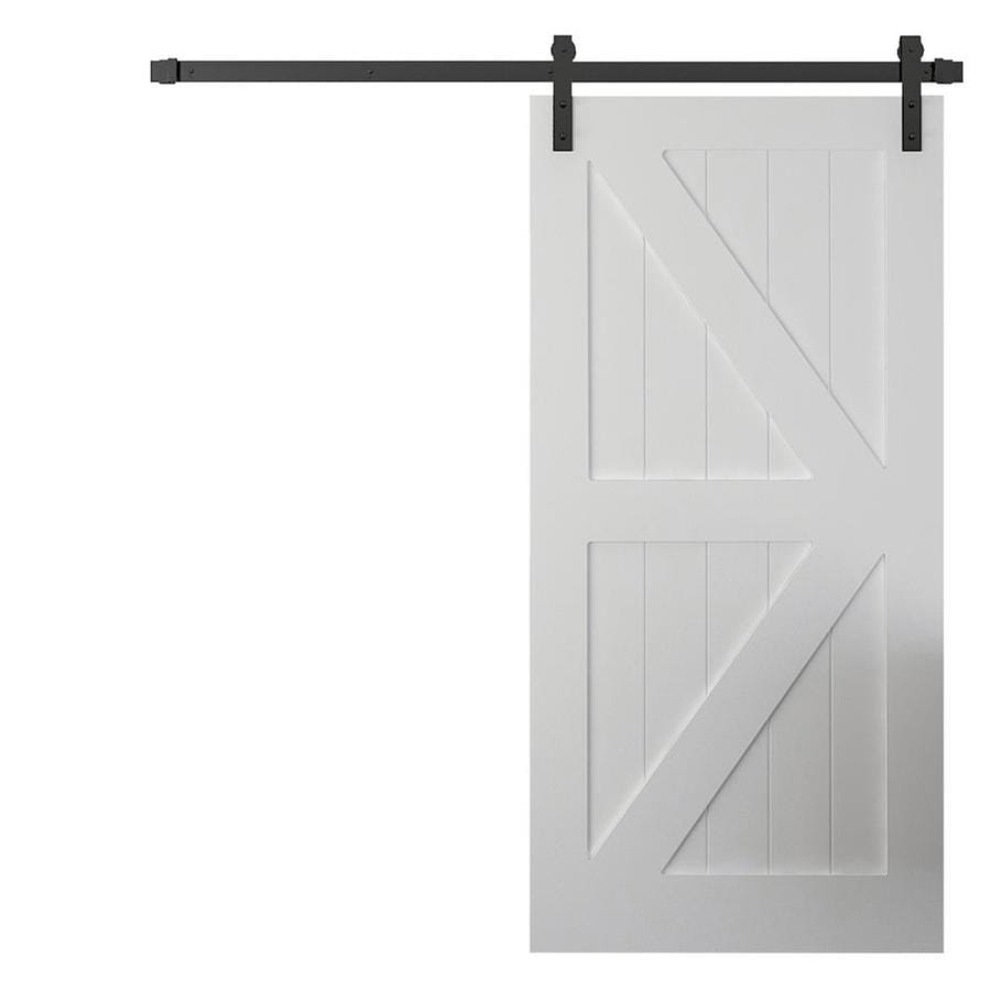 Shop urban woodcraft manhattan white solid core k frame for 40 inch interior barn door