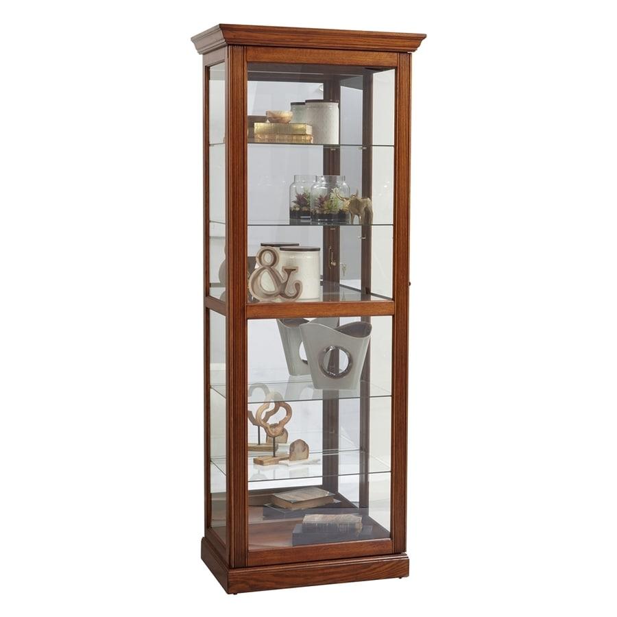 Shop pulaski oak oak curio cabinet at for Curio cabinet