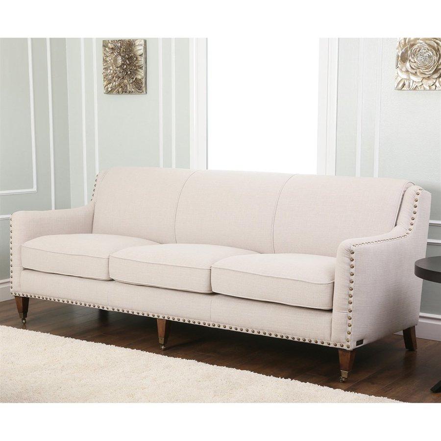 Pacific Loft Monica Pedersen Light Grey Linen Sofa