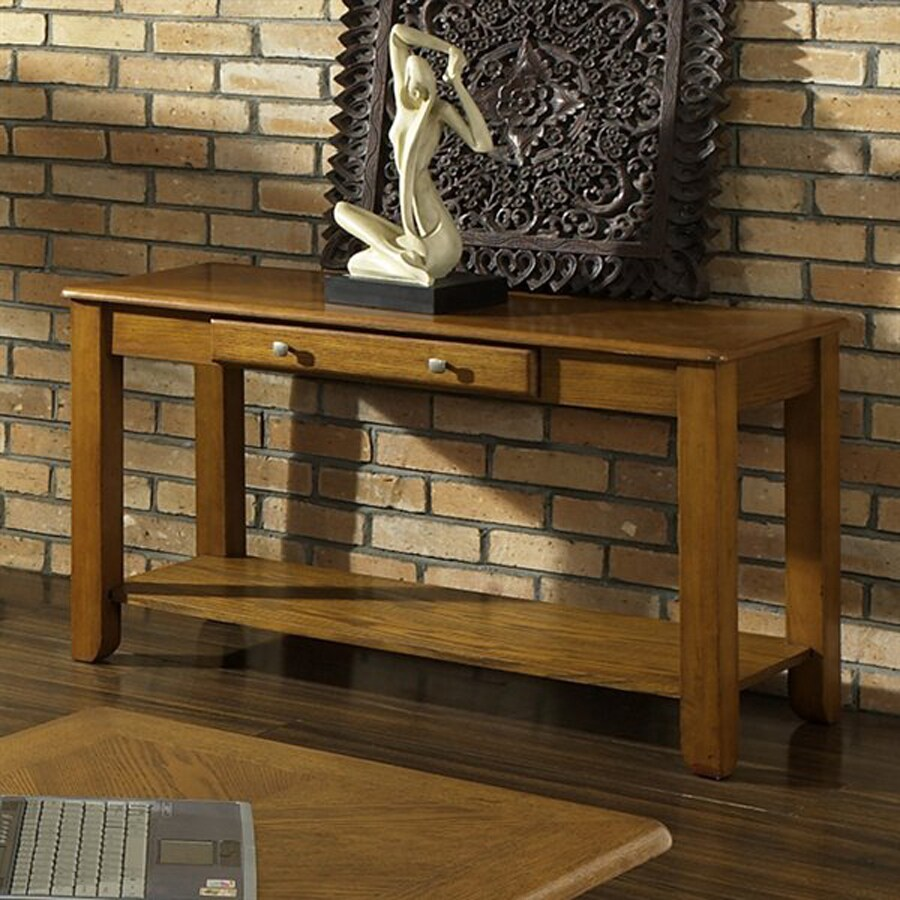 Steve Silver Company Nelson Golden Oak Console Table