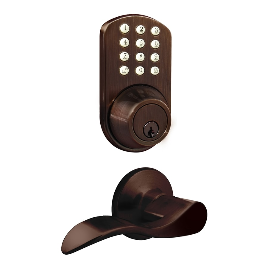 MiLocks Oil-Rubbed Bronze Motorized Electronic Entry Door Handleset