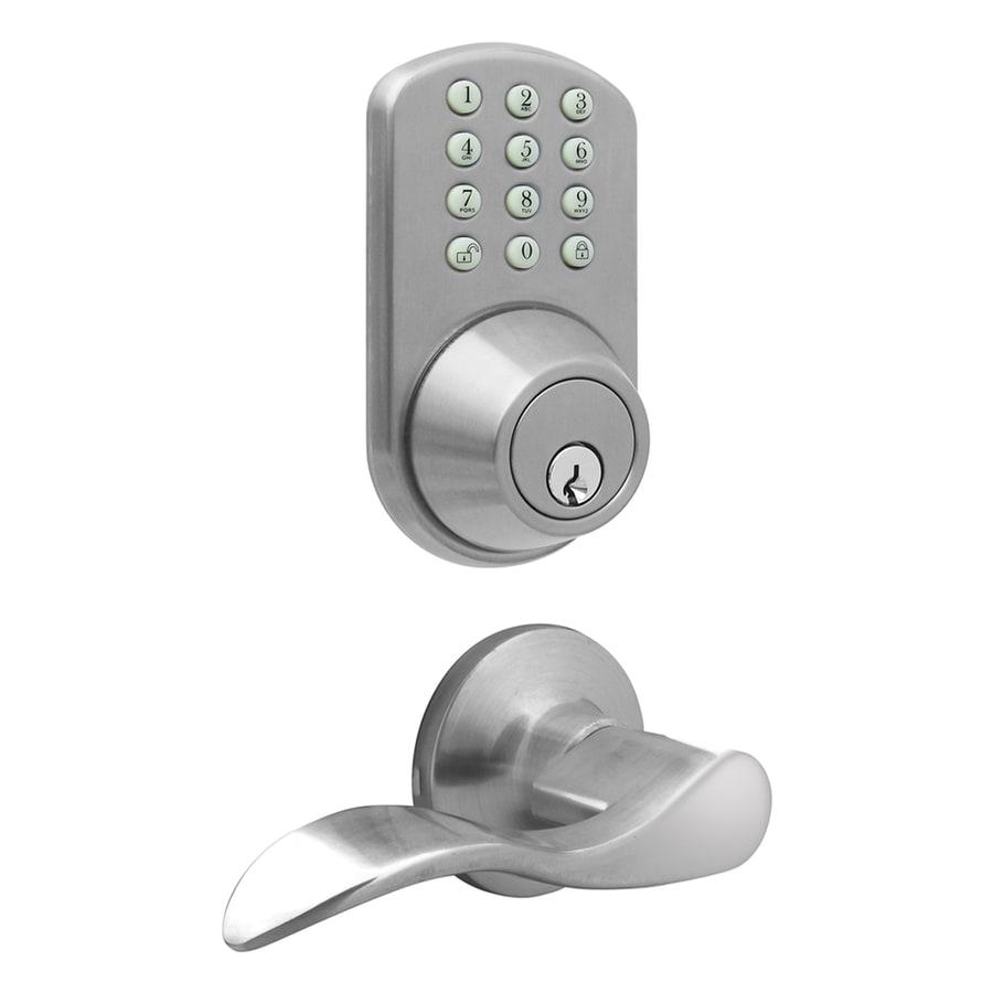 MiLocks Satin Nickel Motorized Electronic Entry Door Handleset