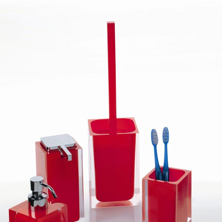 Nameeks Rainbow Red Plastic Toilet Brush Holder