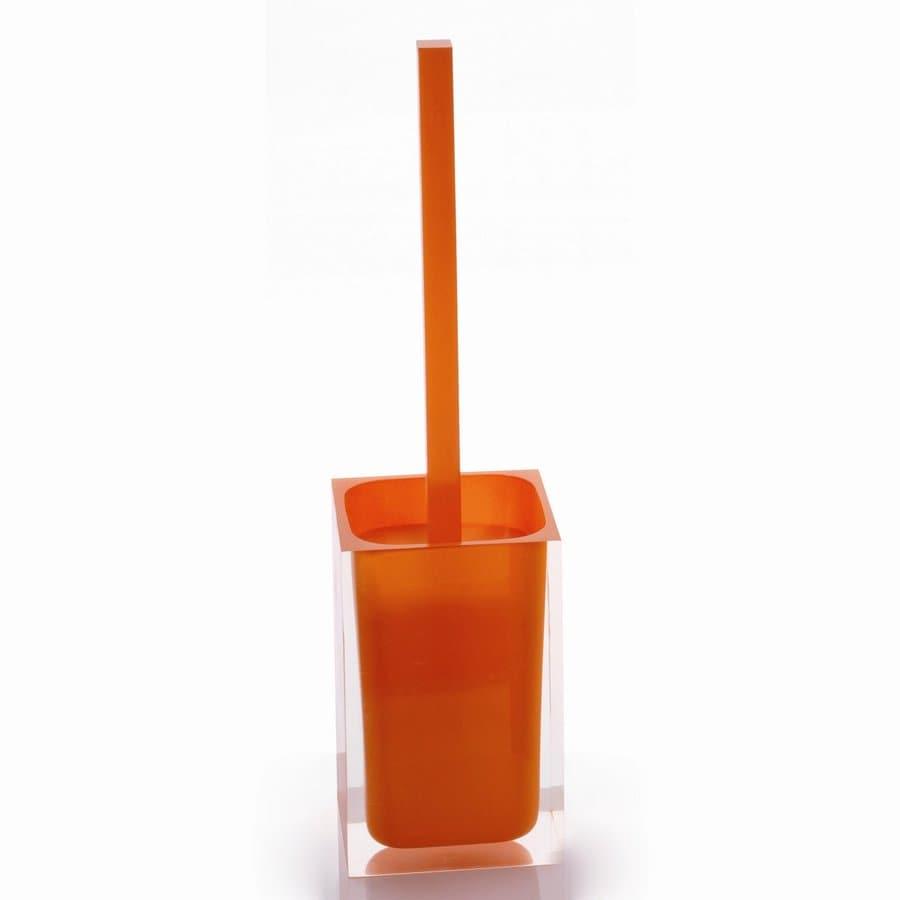 Nameeks Rainbow Orange Plastic Toilet Brush Holder