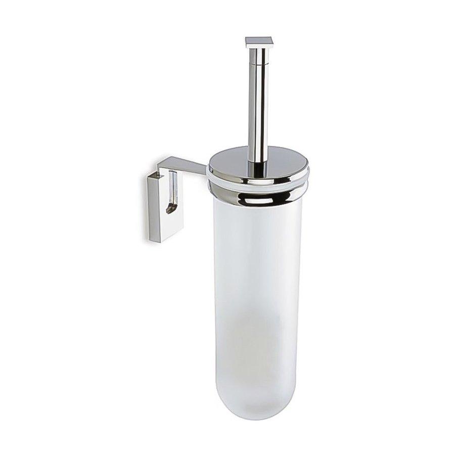 Nameeks Quid Chrome Glass Toilet Brush Holder